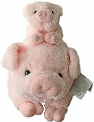 Exceptional Home Pigs Plush Stuffed Animals Set. 18 inch Pig with Baby Piglet. Kids Toys Gift Pig Animal Stuff -