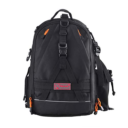Fiblink Fishing Tackle Backpack Large Waterproof Tackle Bag Storage Outdoor Shoulder Backpack Cross Body Sling Bag