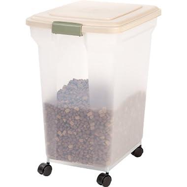 IRIS Premium Airtight Pet Food Storage Container, 67-Quart, Tan