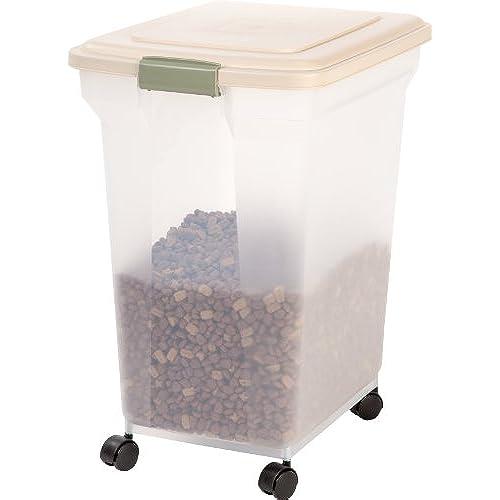 IRIS Premium Airtight Pet Food Storage Container 55-Pounds Almond  sc 1 st  Amazon.com & Storage Bins for Bird Food: Amazon.com