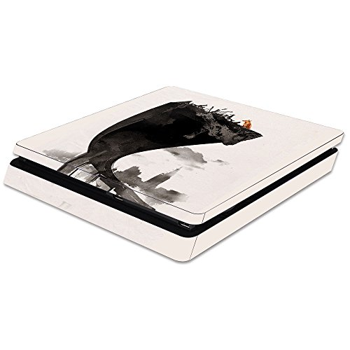 MightySkins Skin Compatible with Sony PS4 Slim Console - Last of Us | Protective, Durable, and Unique Vinyl Decal wrap Cover | Easy to Apply, Remove, and Change Styles | Made in The USA