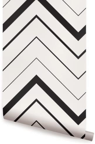 Chevron Bold Black Peel Stick Fabric Wallpaper Repositionable Peel And Stick Wallpaper And Chevron Amazon Com