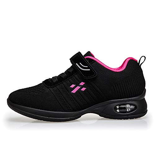casual Shoes Elderly Black Dancing Shoes Soft Mother Air sho And Sports Bottom Shoes Cushion Female Middle Aged Square Walking Dance 8HSq8rW