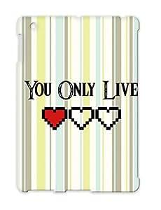 Illustration Art Design KCCO Zelda Y O L Motto TPU Case Cover For Ipad 4 Red