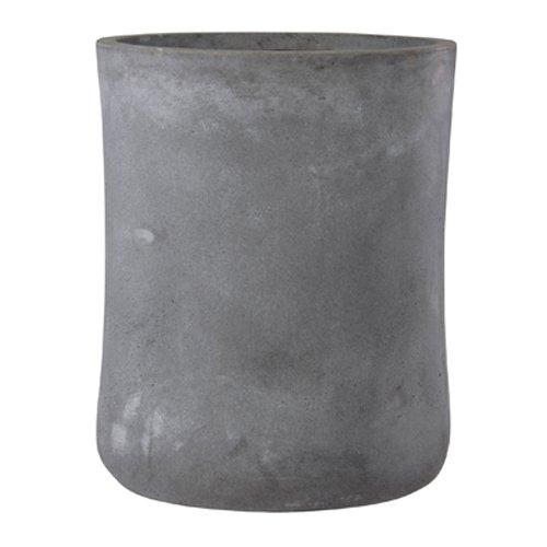 ファイバークレイ製 軽量 大型植木鉢 バスク ミドル 37cm グレー B06ZYPNBNV   37cm