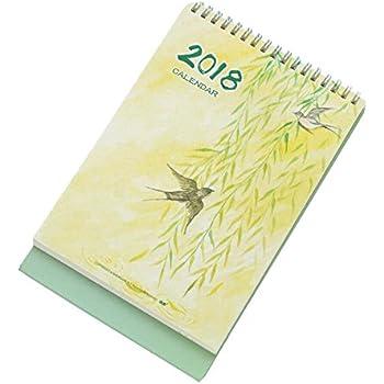 2017-2018 Mini Desk Standing Calendar Classic Scenery Notes Calendar, Spring