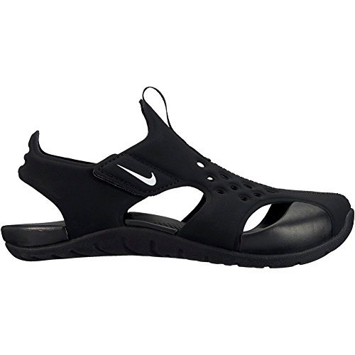 (Nike Kids Sunray Protect 2 (PS) Sandals Black White Size 2)
