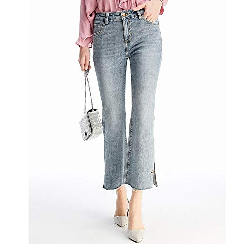 S Mode Punkte Femme Grat La Taille MVGUIHZPO Die Neue Jeans Schlitz Micro neun Denim hohe 6wqT1Bf