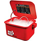 BIG RED T10035 Torin Portable Steel Cabinet Parts Washer with 110V Electric Pump, 3.5 Gallon Capacity, Red