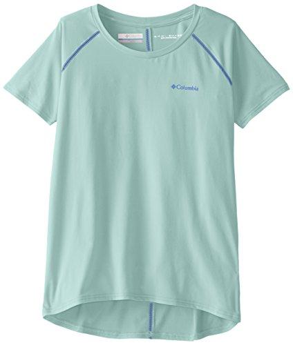Columbia Girls Silver Ridge Short Sleeve Tee, XX-Small, Sea