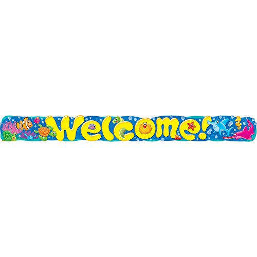 Trend Enterprises T-25085BN 3 Each 10 ft. Welcome Sea Buddies Quotable Expressions Banner