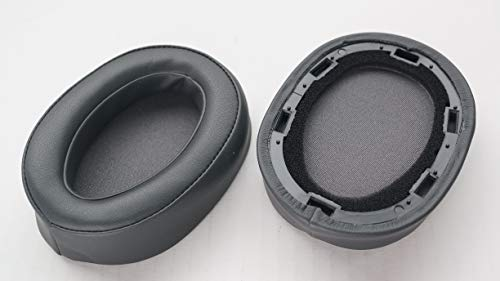Ear Pad Leather Cushion Repair Parts for Sony MDR-100ABN Headphones mdr100abn WH-H900N Headset (Charcoal Grey)