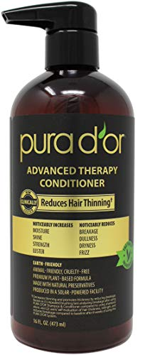 PURA D'OR Advanced Therapy System Shampoo & Conditioner - Increases Volume, Strength and Shine ...