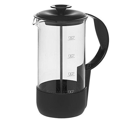 Emsa 1235089700 Kaffeebereiter, 8 Tassen, 1 Liter, Limited Editon, Schwarz, Neo