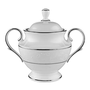 Lenox Opal Innocence Platinum-Banded Bone China Sugar Bowl