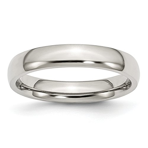 Diamond2Deal Stainless Steel 4mm Polished Band Ring Size 10 from Diamond2Deal