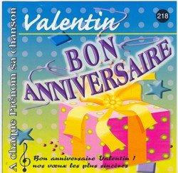 Bon Anniversaire Valentin Jean Louis Mercier Fred Aberson Patrick