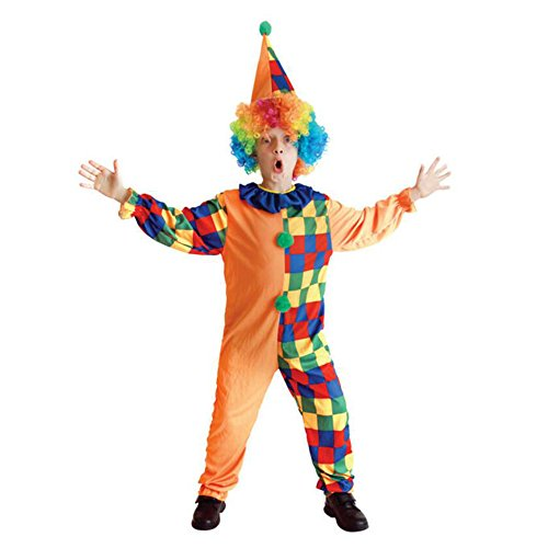 Halloween Funny Rainbow Clown Role Play Theme Party Costumes For Girls Boys With Hat - Plus Size Circus Themed Costumes