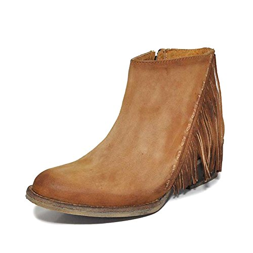 Corral New Womens - Circle G New by Corral Women's Q0035 Ankle Boot Honey 10