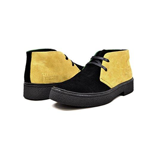 British Walkers Men's Playboy High top Chukka Boot Jamaica Yellow/Black/Green 11