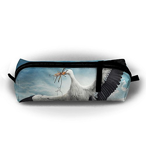 Gift Stork Delivery (MOOTIL Birds Storks Sky Beak Printing Portable Pen Holder Stationery Pencil Pouch Cosmetic Bags)