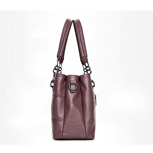purple Women Howoo Bag PU Crossbody Messenger Pockets Shoulder Multi soft purple Capacity large Girls for Bag Handbag fAwTHqf