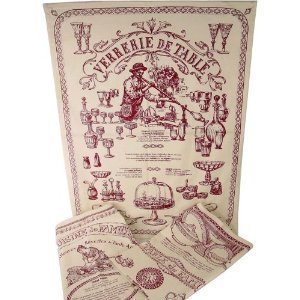 3 Assorted French Country Vintage Design Tea Towels