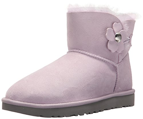 Fog UGG Poppy Fashion Bailey Women's Lavender Boot Button Mini FvxBpFqU