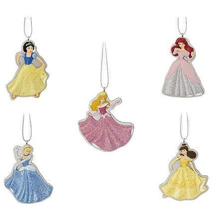 Amazon.com: Disney Princess 5-piece Christmas Ornament Set: Home ...