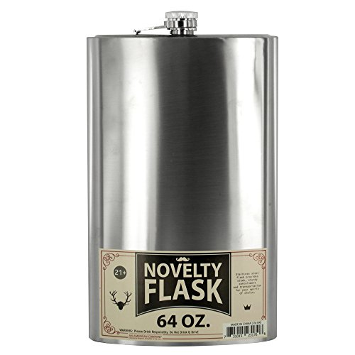 Dollaritem 611720 Wholesale 64 oz. Oversized Stainless Steel Novelty Flask X