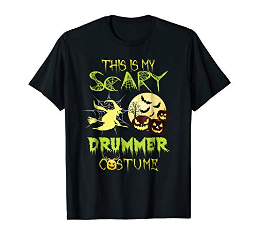 This Is My Scary DRUMMER Costume Halloween tshirt for $<!--$12.99-->