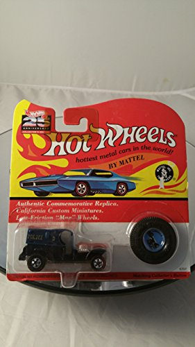 Hot Wheels - 25th Anniversary Collector's Edition - Paddy Wagon (Colors Vary) - Basic Wheel Hubs - Authentic Commemorative Replica w/Matching Collector's ()