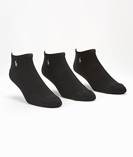 Polo Ralph Lauren Tech Athletic Low Cut 3-Pack, One Size, Black