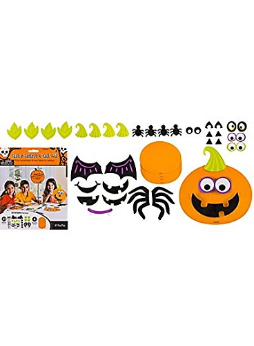 Jack-O'-Lantern Craft Kit for 8 ~ Fun Cardstock Halloween -