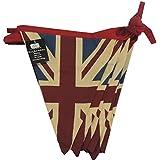 Hockey Club 5m 100% coton Double face style vintage Union Jack Festival Guirlande, bleu