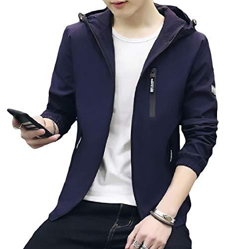 Plus Cappuccio Pattern3 Mogogomen Cappotto Moda Zip Outwear Trim Tasca size fit SgwHqt