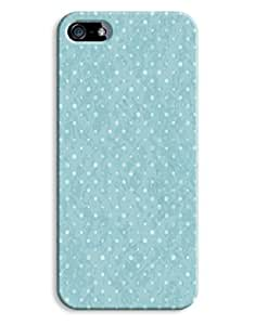 Blue Grungy Polkadots Case for your iPhone 5/5S by lolosakes