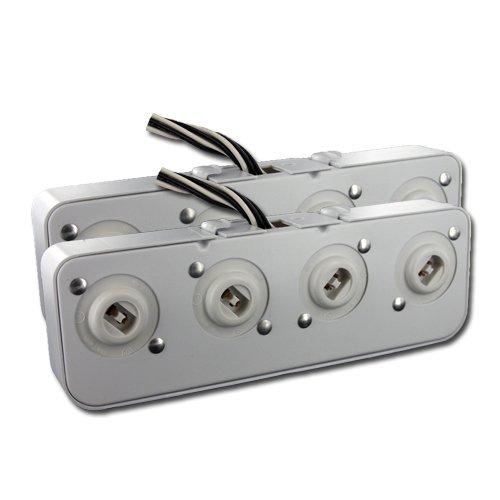 LH0818 HH 408-9-250 Four light HO/VHO turret assembly fixtures Vho Fluorescent Lights