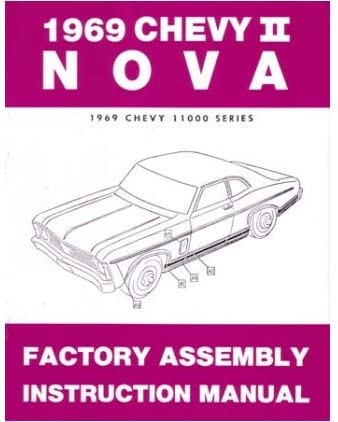 1969 Chevy II /& Nova Assembly Manual 69 Chevrolet