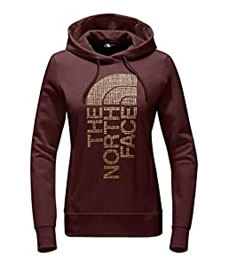 The North Face Women's TrIVert Pullover Hoodie - Barolo Red Heather/Gold Foil - L