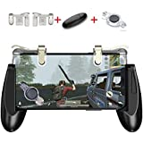 Mobile Game Controller Kit 3-in-1,GVKVGIH Gaming Triggers,Mobile Gaming Grip Mobile Gamepad and Gaming Joystick Fling Joystick for Smartphone