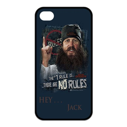 Fayruz- Duck Dynasty Protective Hard TPU Rubber Cover Case for iPhone 4 / 4S Phone Cases A-i4K13