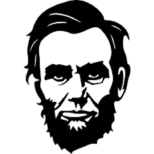 Abraham Lincoln Face Vinyl Decal Sticker | Cars Trucks Vans Walls Laptops Cups | Black | 5.5 X 3.8 Inch | KCD1214
