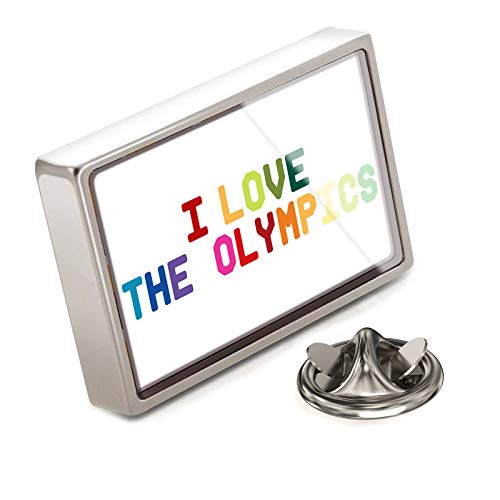 (NEONBLOND Lapel Pin I Love The Olympics,Colorful)