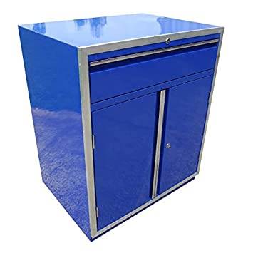 Redline Elite serie azul base 2 puerta armario con cajón de almacenamiento de garaje tienda remolque: Amazon.es: Coche y moto