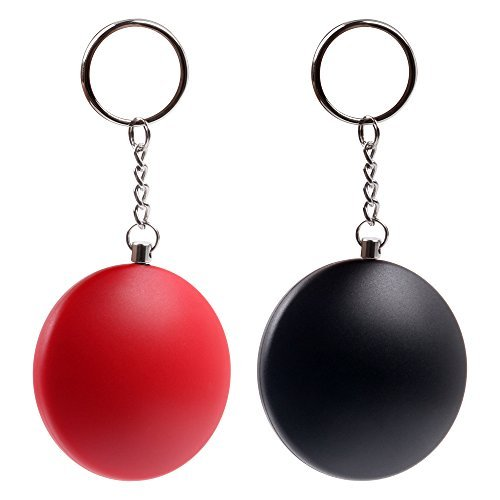Catsonic Personal Alarm, Pocket Alarm, Keychain with 130db Alarm, Self-Protection for Woman and Children, Alarm Keychain, Set of 2, Safety for Your Family, in Black, Red ()
