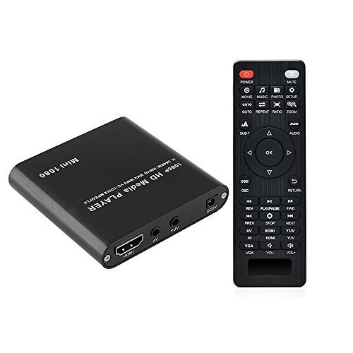 AGPTEK HDMI Media Player, Mini 1080p Full-HD Ultra HDMI Digital Media...