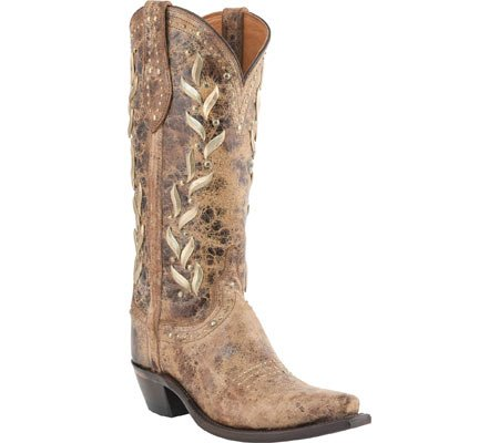 Lucchese M4621.s54 Reese Da Donna In Pelle Di Vitello Color Cammello, Western Boots Tan Road In Pelle Di Vitello
