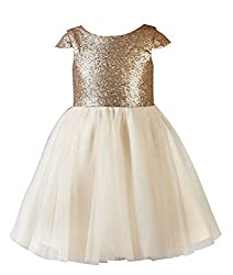 Sequin Tulle Short Toddler Girls Party Dress