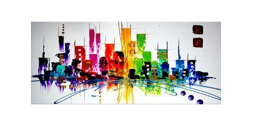 Santin Art Colorful City Modern Art Decorations product image